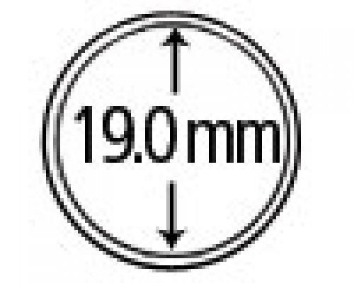 Münzkapseln aus Polystyrol 19 mm 10er Packung