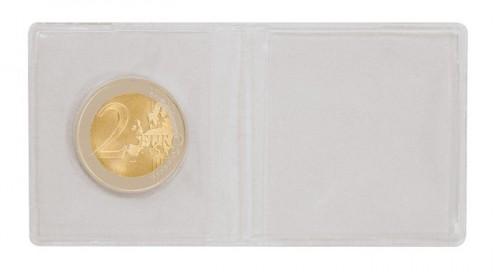 Doppel-Münzen-Taschen  aus PVC-Folie glasklar