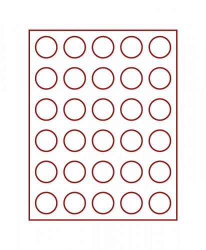 Münzenbox (runde Vertiefungen) 36 mm Ø