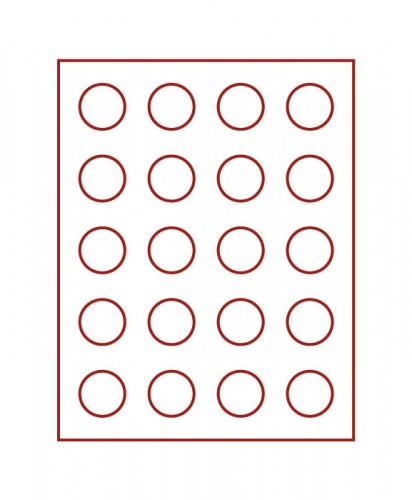 Münzenbox (runde Vertiefungen) 38 mm Ø