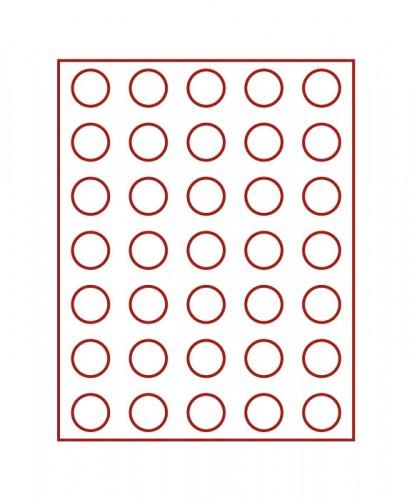 Münzenbox (runde Vertiefungen) 31 mm Ø