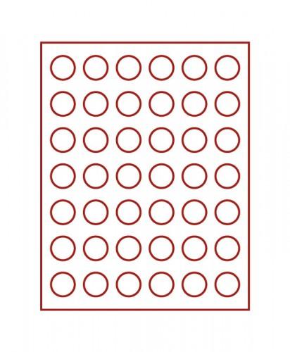 Münzenbox (runde Vertiefungen) 29.5 mm Ø
