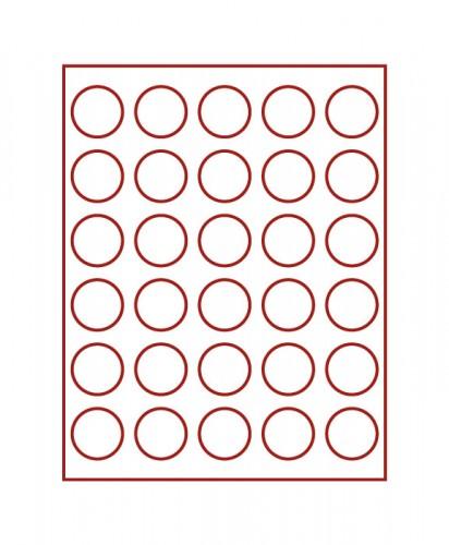 Münzenbox (runde Vertiefungen) 39 mm Ø