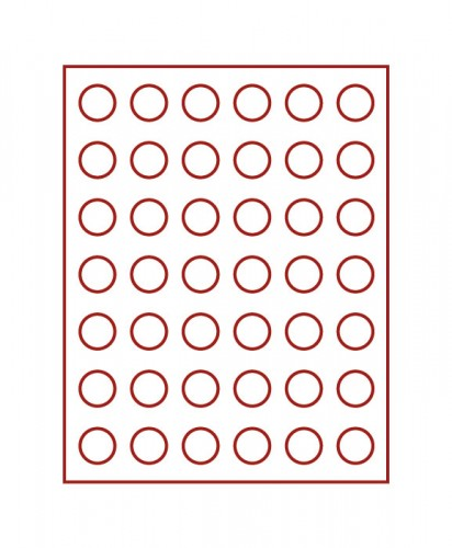 Münzenbox (runde Vertiefungen) 27.5 mm Ø