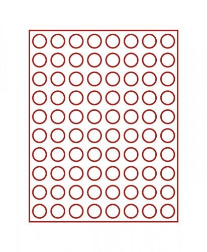 Münzenbox (runde Vertiefungen) 23.5 mm Ø