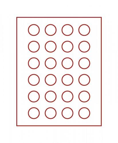 Münzenbox (runde Vertiefungen) 32.5 mm Ø