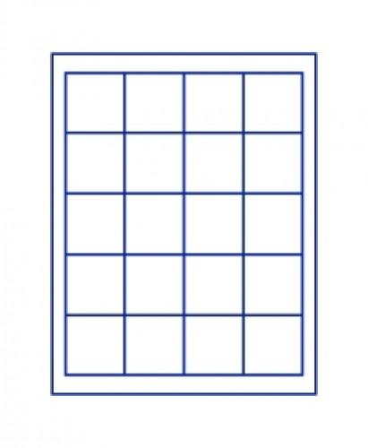 Münzenbox Marineblau (quadratische Vertiefungen) 47 mm Ø