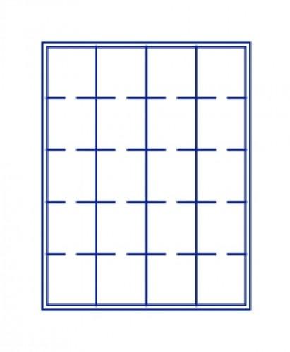 Münzenbox Marineblau (quadratische Vertiefungen) 50 mm Ø