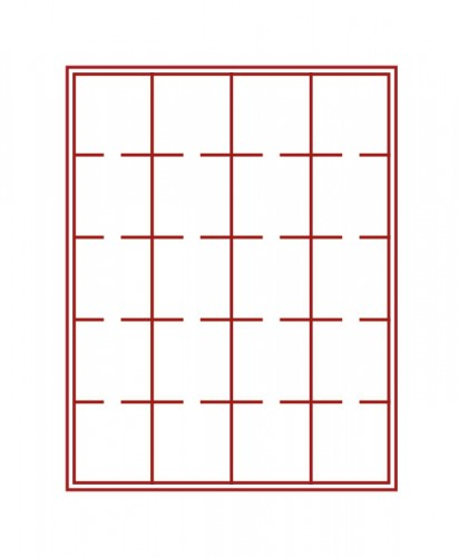 Münzenbox (quadratische Vertiefungen) 50 mm Ø