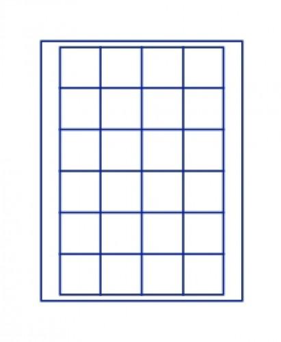 Münzenbox Marineblau (quadratische Vertiefungen) 42 mm Ø