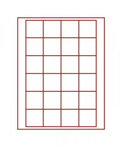 Münzenbox (quadratische Vertiefungen) 42 mm Ø
