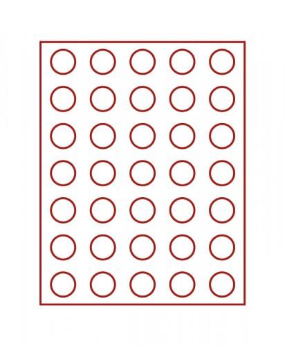 Münzenbox (runde Vertiefungen) 30 mm Ø