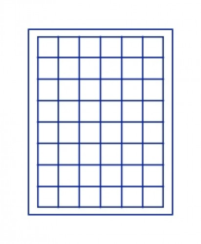 Münzenbox Marineblau (quadratische Vertiefungen) 30 mm Ø