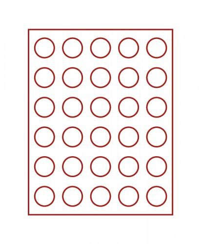 Münzenbox (runde Vertiefungen) 34 mm Ø
