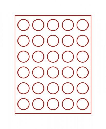 Münzenbox (runde Vertiefungen) 37 mm Ø