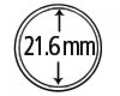 Münzkapseln aus Plexiglas 21.6 mm 10er Packung