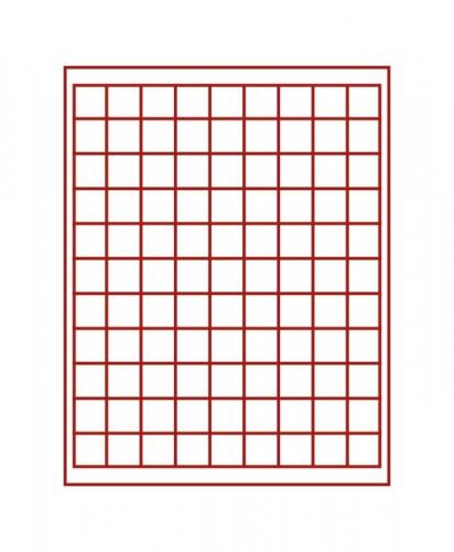 Münzenbox (quadratische Vertiefungen) 19 mm Ø