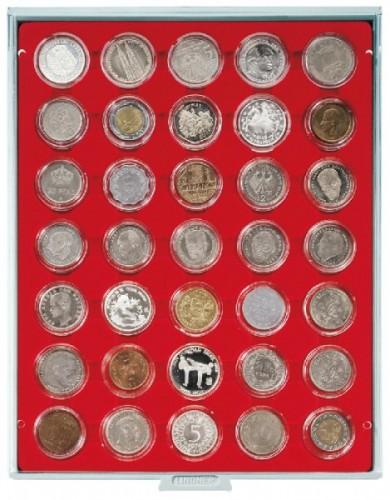 Münzbox mit 35 Vertiefungen für Münzkapseln