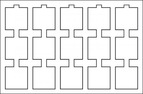 Münztableau für 15 Münzrähmchen 50x50 mm