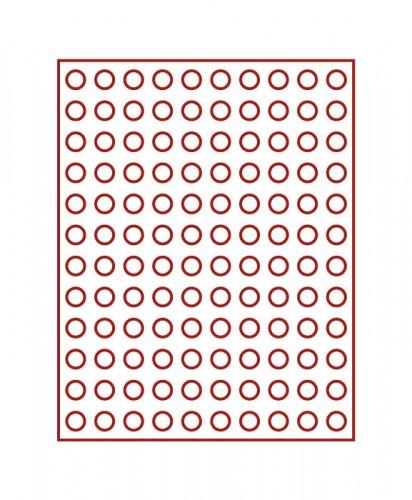 Münzenbox (runde Vertiefungen) 16.5 mm Ø