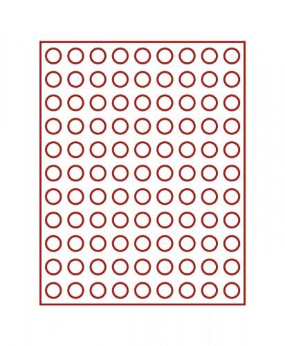 Münzenbox (runde Vertiefungen) 19.25 mm Ø