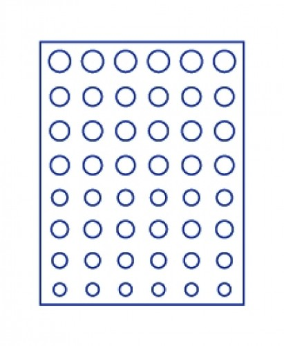 Münzenbox Marineblau Euro-Münzsätze (runde Vertiefungen)