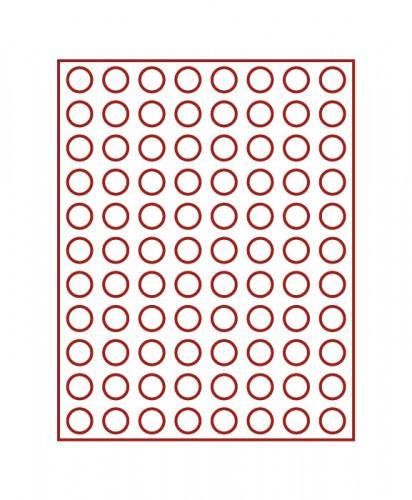 Münzenbox (runde Vertiefungen) 21.5 mm Ø