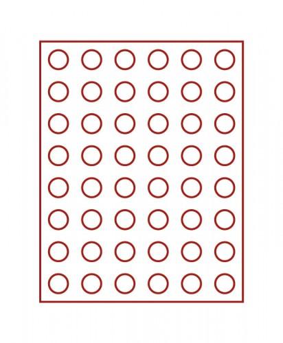 Münzenbox (runde Vertiefungen) 24.25 mm Ø