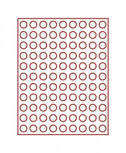 Münzenbox (runde Vertiefungen) 20 mm Ø