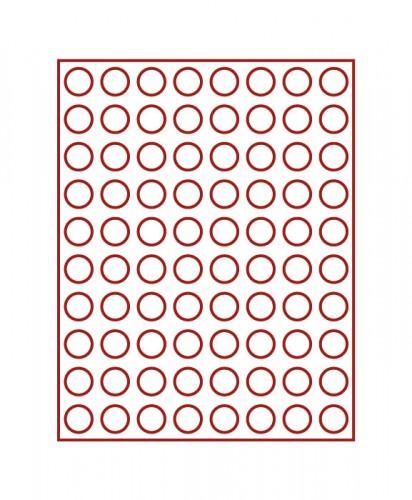Münzenbox (runde Vertiefungen) 22.25 mm Ø