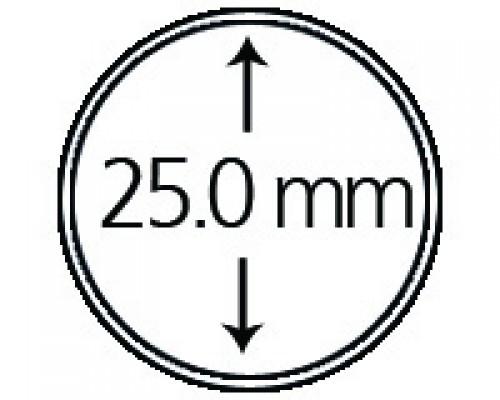 Münzendosen (Münzkapseln) 25.0 mm 10er Packung