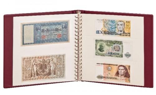 Banknoten-Album inklusiv Blätter