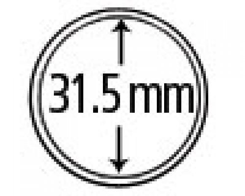 Münzkapseln aus Plexiglas 31.5 mm 10er Packung