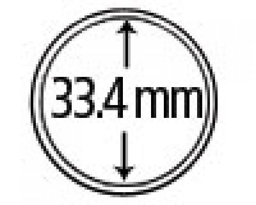 Münzkapseln aus Plexiglas 33.4 mm 10er Packung