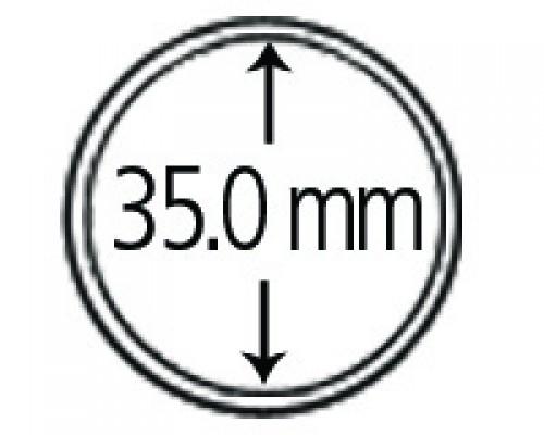 Münzkapseln aus Polystyrol 35.0 mm 10er Packung
