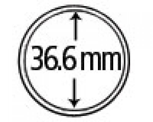 Münzkapseln aus Plexiglas 36.6 mm 10er Packung
