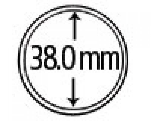 Münzkapseln aus Plexiglas 38 mm 10er Packung
