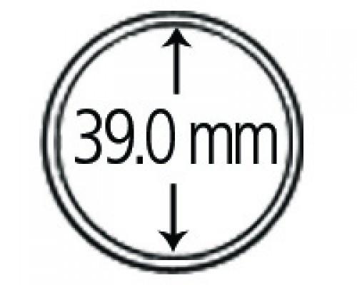 Münzkapseln aus Polystyrol 39.0 mm 10er Packung