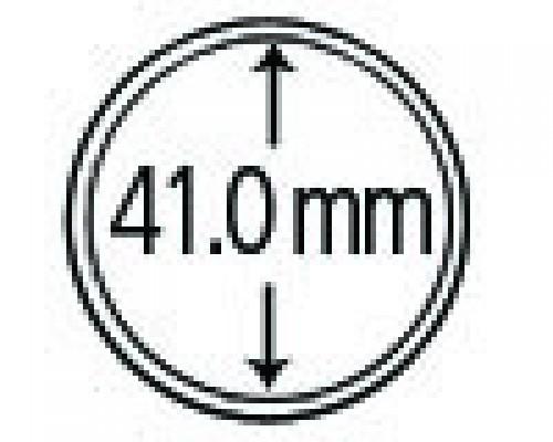 Münzkapseln aus Polystyrol 41.0 mm 10er Packung