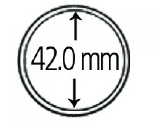 Münzkapseln aus Polystyrol 42.0 mm 10er Packung