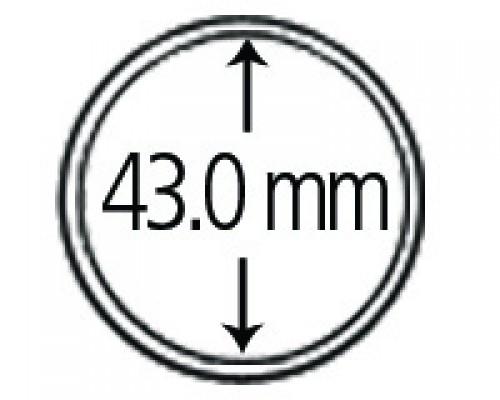 Münzkapseln aus Polystyrol 43.0 mm 10er Packung