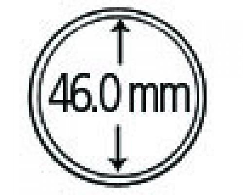 Münzkapseln aus Polystyrol 46.0 mm 10er Packung