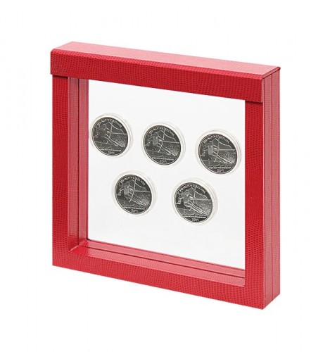 NIMBUS 150, Krokodesign, rot (150x150x25mm)