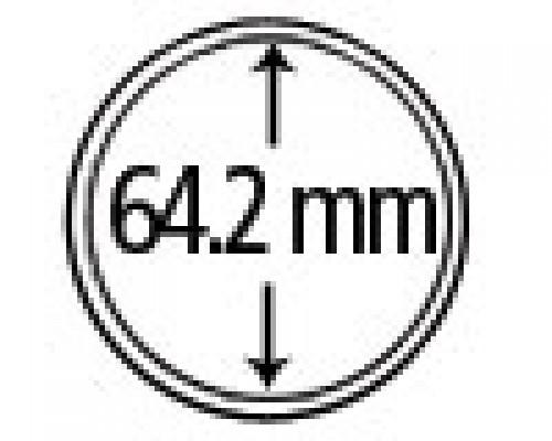 Münzkapseln aus Plexiglas 64.2 mm 10er Packung