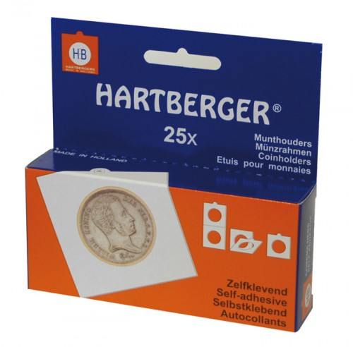 Münzenrähmchen für Münzen bis 17.5 mm Ø, selbstklebend 25er Packung