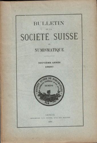 Bulletin Société Suisse de Numismatique 1890 (antiquarisch)