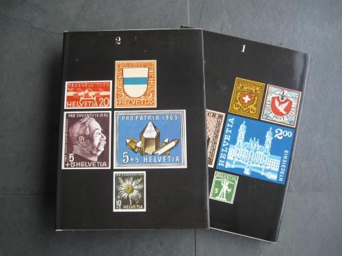 Schweizer Briefmarken Band 1 und 2 Silva-Bücher