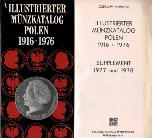Illustrierter Münzkatalog Polen 1916 - 1976 und Supplement 1977 und 1978 (antiquarisch)