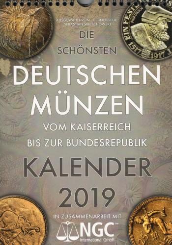 Jahreskalender 2019 mit Münzabbildungen