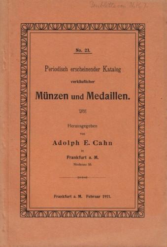 Katalog verkäuflicher Münzen und Medaillen 1911 (antiquarisch)